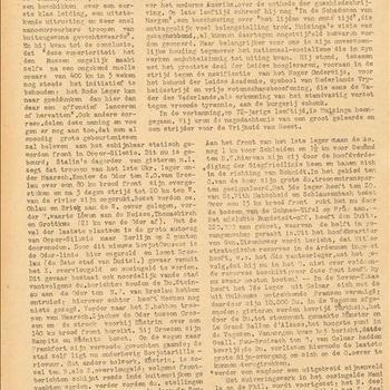 De Bevrijding. No. 201. 7 Februari 1945