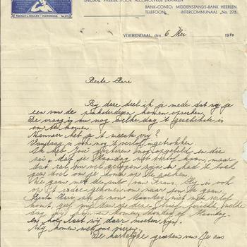 verzameling van brieven gericht aan dhr. H. Moulen ( militair) gedurende de periode 1937 - 1942