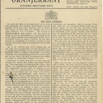 De Oranjekrant  jaargang 1943 no 20   (vivere militare est)