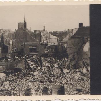 Bombardement Nijmegen 22 febr 1944, zicht op de Gruitberg