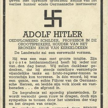 bidprent, spotprent  Adolf Hitler