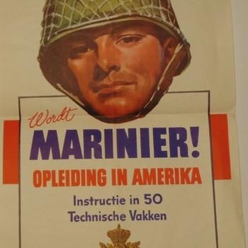 wordt Marinier !  opleiding in Amerika, instructie in 50 technische vakken, bevrijdt Indie