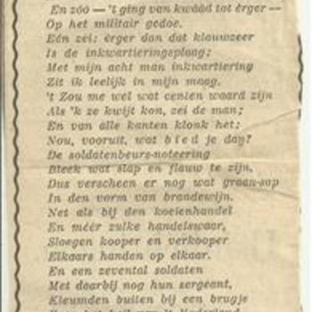 gedicht, Soldaten aangeboden door Clinge Doorenbos
