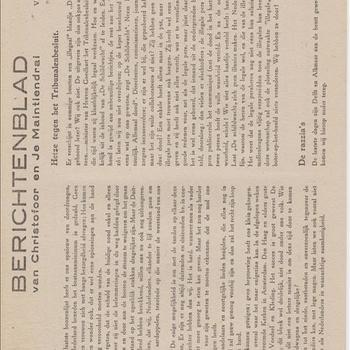 Berichtenblad van Christofoor en Je Maintiendrai. No. 26. Vrijdag 15 Dec. 1944