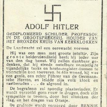 Bidprent, Adolf Hitler