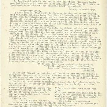 brieven van G. Raaijmakers  sup.prov.  S.C.J. aan de paters, fraters en broeders  1942