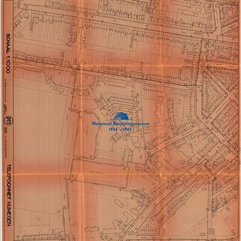Nijmegen, schaal 1:1000, Telefoonnet Nijmegen, PTT, Telefoondistrict Arnhem, blad nummer 24