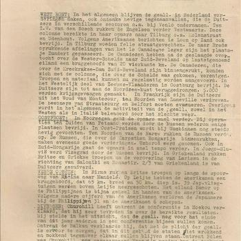 Paraat 27 oktober 1944, 1e exemplaar ( een exemplaar op rose papier)