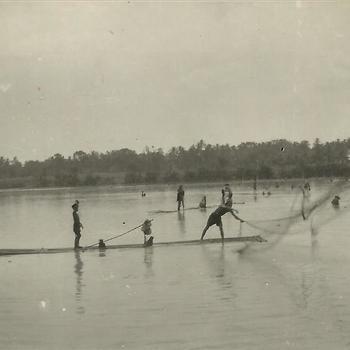 Indië na WO 2, Java, vissen, Depok