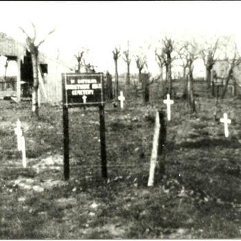Britse tijdelijke begraafplats in Bemmel