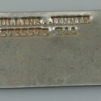 Herkenningsplaatje van metaal