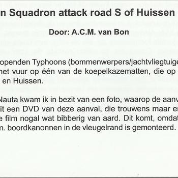 609 Typhoon Squadron attack road S of Huissen 2 april 1945,  door A.C.M. van Bon