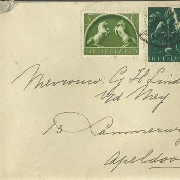 brieven voor de familie Linde van der Meij te Apeldoorn periode 1944 - 1945  brief  48 t/m 56