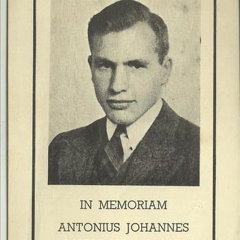 bidprent van Antonius Johannes Maria Van Aalst