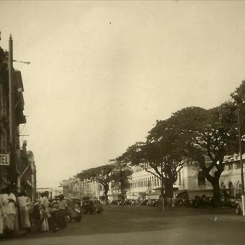 Nederlands-Indië; Marva; Colombo, Ceylon, Sri Lanka, straat