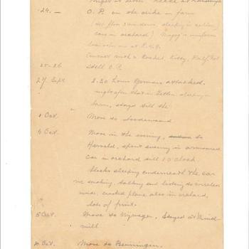 dagboek over de periode 23 september 1944 - 4 mei 1945 van J.C.N. Welschen, als tolk vrijwilliger bij het 43rd Reconnaissance Regiment