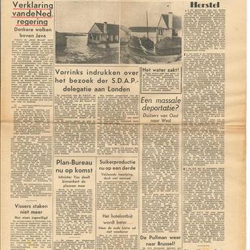 Het Vrije Volk, Democratisch, Socialistisch Dagblad, 1ste jaargang,  6 november 1945