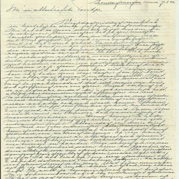 Brief van Tiny Middendorp aan verloofde, 7 mei 1944