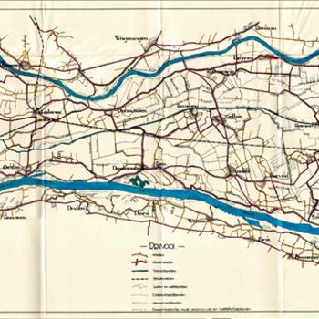 Kaart wederopbouw betuwe, overzichtkaart, 1946 - 1947