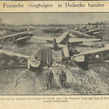 Fransche vliegtuigen in Duitsche Handen    4 juli 1940