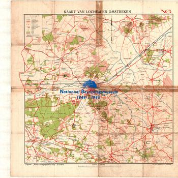 Lochem, kaart van Lochem en omstreken, schaal 1 : 40.000.