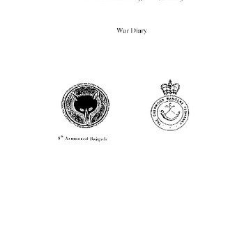 War Diary, The Sherwood Rangers Yeomanry 1 juni 1944 - 30 april 1945 (transcriptie)