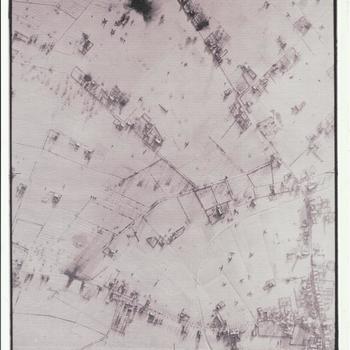 luchtfoto 3096, 'bommenlijntje' 14 januari 1945