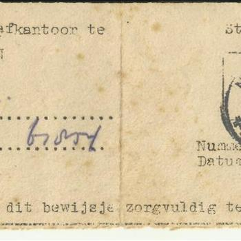 Post - en Telegraafkantoor te Nijmegen, Stempelafdruk, overgenomen van M. Meijer