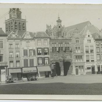 Nijmegen anno 1927; GroteMarkt met toren St. Stevenskerk