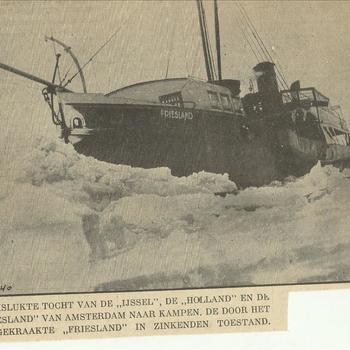 De mislukte tocht van de IJssel, de Holland en de Friesland van Amsterdam naar Kampen   18 januari 1940