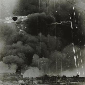Nijmegen na bombardement, 22 februari 1944