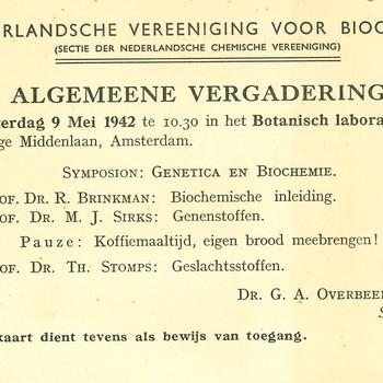 Nederlandsche Vereniging voor Biochemie te Amsterdam