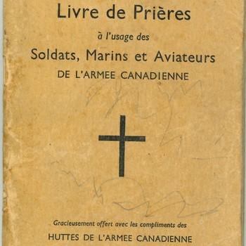 Gebedenboek voor soldaten mariniers en vliegers van het Canadese leger  1940
