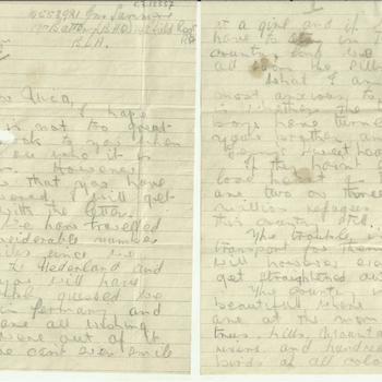 Brief van Len Summers aan C. van Zandwijk, gedateerd June 3rd