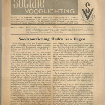 Sociale voorlichting, een uitgave van de Stichting van den Arbeid, juli 1946