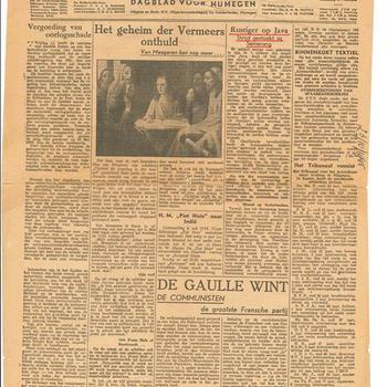 De Gelderlander , dinsdag 23 oktober 1945, Dagblad voor Nijmegen