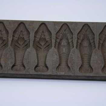Chocoladevorm van metaal voor 6 vissen