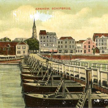 Arnhem. Schipbrug.