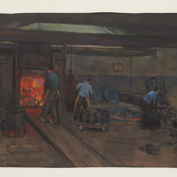 Het uitgloeien van ijzer, Terborg, circa 1930