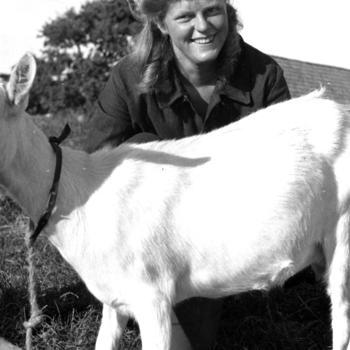 Meisje met geit, Kuinre, 1944