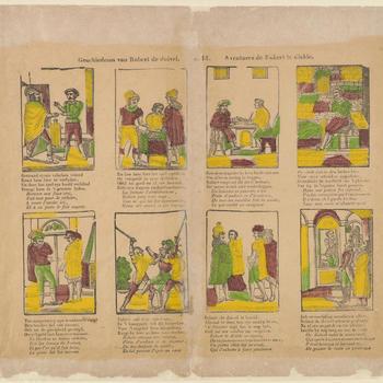 Geschiedenis van Robert de Duivel. - N.14. Aventures de Robert le diable.