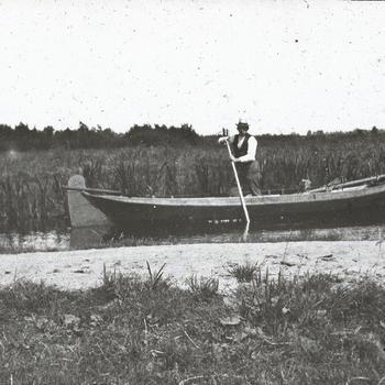 Vervoer te water, Giethoorn, vermoedelijk circa 1900