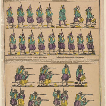 Zoaaven (Fransche troepen van Afrika)  N.147 Zouaves (troupes françaises d'Afrique)