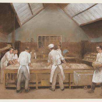 Deegbereiding in een bakkerij