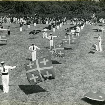 Vendelzwaaien, Gendt, 1947