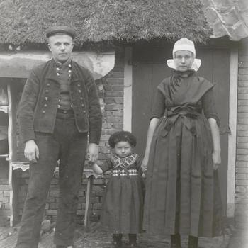 Familie Klooster-Visscher uit Rouveen, circa 1915