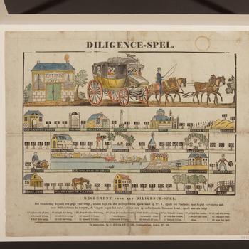 Bordspel 'Diligence-Spel', Amsterdam, circa 1837