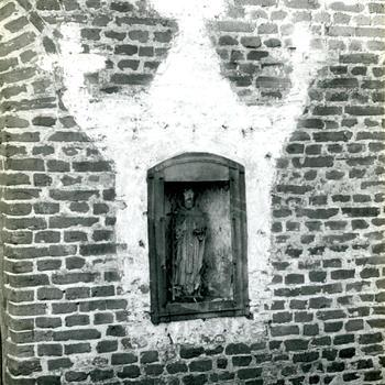 Beeldje van Sint Rochus, Merselo, 1948