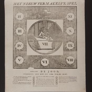 Spel 'Het Nieuw Vermakelyk Spel Genaamd De Jood', Amsterdam, 1818–1845
