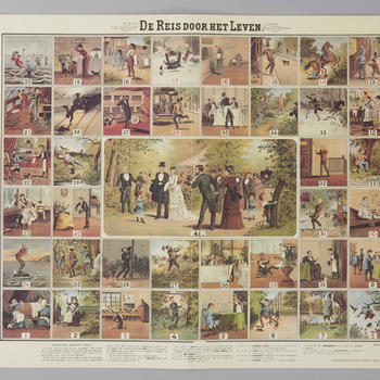Bordspel 'De Reis door het Leven', 1974